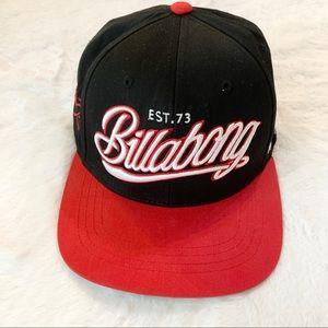Billabong Black & Red Script 1973 Snap Back Hat